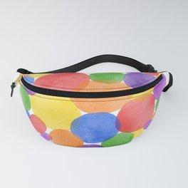 Rainbow Heart Watercolour Fanny Pack