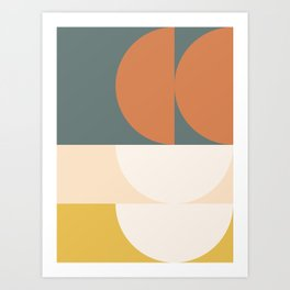Abstract Geometric 02 Art Print