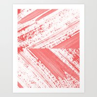 coral Art Prints featuring CORAL by LEEMO