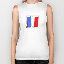 Flag of France III- France, Français,française, French,romantic,love,gastronomy Biker Tank