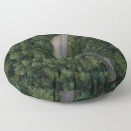 NATURE - PHOTOGRAPHY - FOREST - HIGHWAY - ROAD - TRIP - TREES Floor Pillow