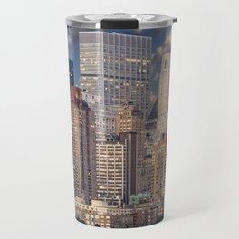 Downtown NYC at twilight Travel Mug