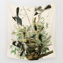 Mocking Bird - John James Audubon's Birds of America Print Wall Tapestry