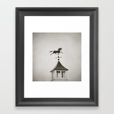 Horse Weathervane Framed Art Print