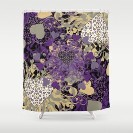 Purple Heart Shower Curtain