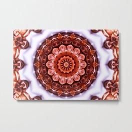 Aragonite Mandala Metal Print