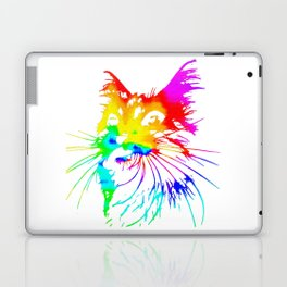 tie dye cat splash art Laptop & iPad Skin