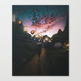 Hidden Village Artwork Canvas Print