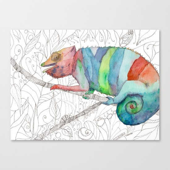 Chameleon Fail Canvas Print