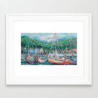 murray Framed Art Prints featuring Murray Docks by Ann Marie Coolick