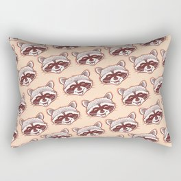 Happy raccoon Rectangular Pillow
