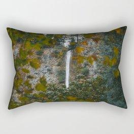 Multnomah Falls Autumn Rectangular Pillow