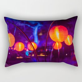 Beautiful lanterns at night Rectangular Pillow