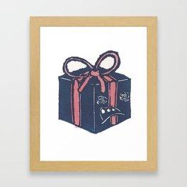 Blue Present Framed Art Print