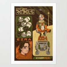 Rebel 4: Ezra Bridger Art Print