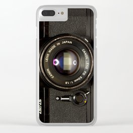 Canon Camera EF Style Clear iPhone Case