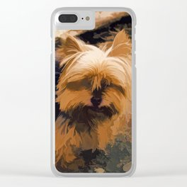 Little Yorkie  Artwork  - Yorkshire Terrier Dog Clear iPhone Case