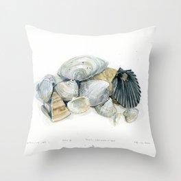Seashell Composition 3 Throw Pillow