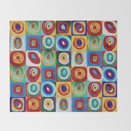 Colorful circles tile Throw Blanket