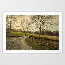 Winding Road Into Sunset Art Print