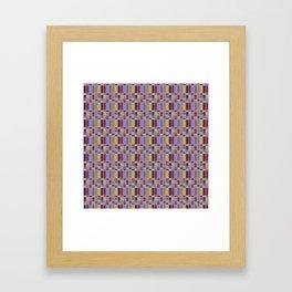Keyboard Plaid-Retro Framed Art Print