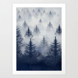 Foggy Forest 2 Art Print