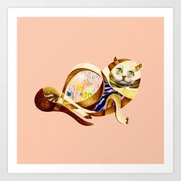 Here Litte Kitty Art Print