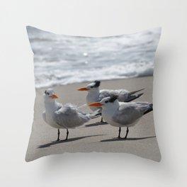 tern, tern, tern Throw Pillow