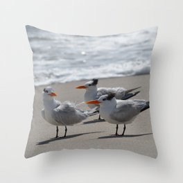 tern, tern, tern Throw Pillow