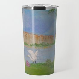Habitat of Snowy Egret Travel Mug