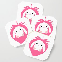 Mei the Strawberry Rabbit Coaster