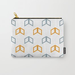 Pattern Play: Retro Chevron Carry-All Pouch