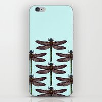 dragonfly iPhone & iPod Skins featuring dragonfly by Sharon Turner