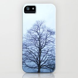 Bare Tree in a Blue Fog iPhone Case