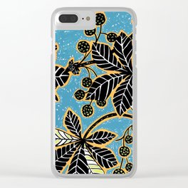 Chestnut Leaves Clear iPhone Case
