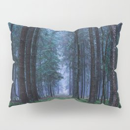 Green Magic Forest - Landscape Nature Photography Pillow Sham