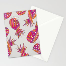 Geometric Pineapples Summer Print Stationery Cards