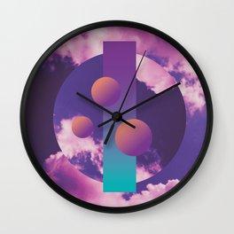 Vaporwave sky 3 / Circles / 80s / 90s / aesthetic Wall Clock