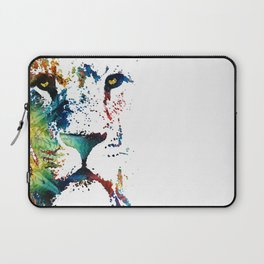 Colorful Lion Art By Sharon Cummings Laptop Sleeve