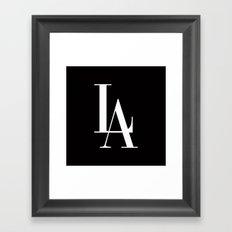 LA Los Angeles Vogue Typography Framed Art Print