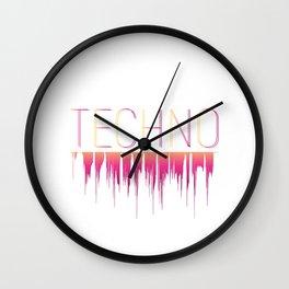 Play my music dj! Music techno rave design Wall Clock