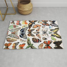 Adolphe Millot - Papillons A - French vintage poster Rug