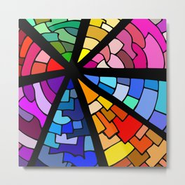 Colourful Slices Metal Print