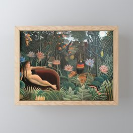 Henri Rousseau The Dream Framed Mini Art Print