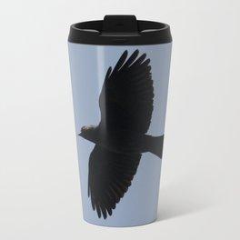 Jackdaw In Flight Travel Mug