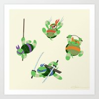 tmnt Art Prints featuring TMNT by Dean Heezen Art