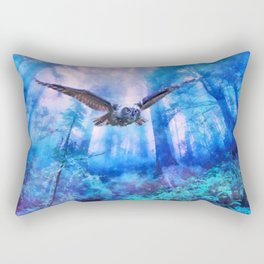 Owl flight Rectangular Pillow