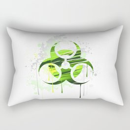 Symbol of Biological Danger Drawn with Paint Rectangular Pillow