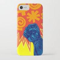 superheroes iPhone & iPod Cases featuring Superheroes SF by Nick Volkert