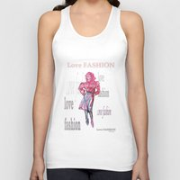 fashion illustration Tank Tops featuring Fashion Illustration by TomConwayArt